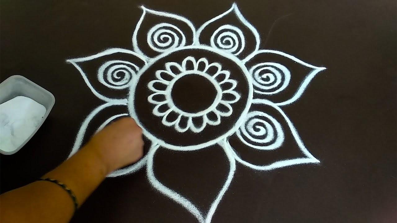 daily rangoli design 16 easy free hand rangoli designs