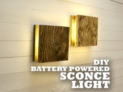DIY Battery Powered Sconce Light