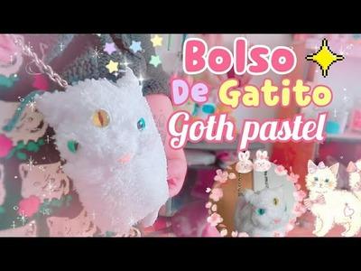 DIY BOLSO ????  DE GATITO ✨GOTH PASTEL ????????\ SUPER FACIL ????