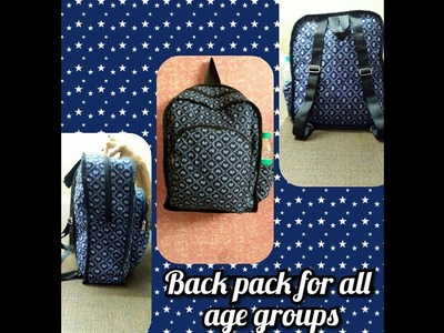 DIY how to sew Backpack for all age group PÀRT - 1