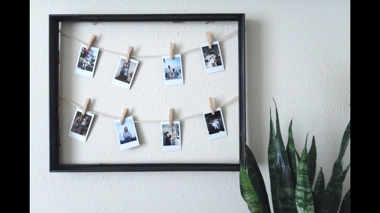 DIY Inexpensive Polaroid Frame