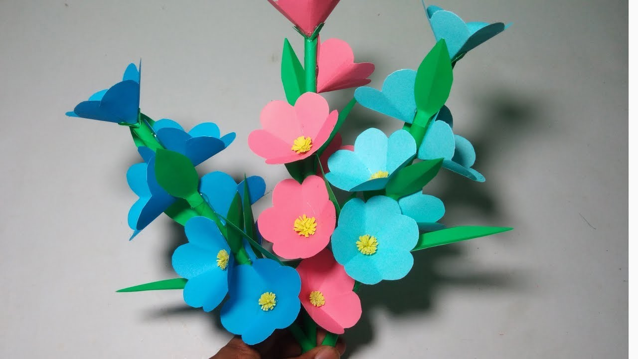 Diy Paper Craft Handcraft Diy How To Make Beautiful Paper Flower