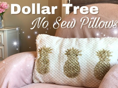 Dollar Tree DIY NO SEW Pillows only $3 |How to make no sew pillows