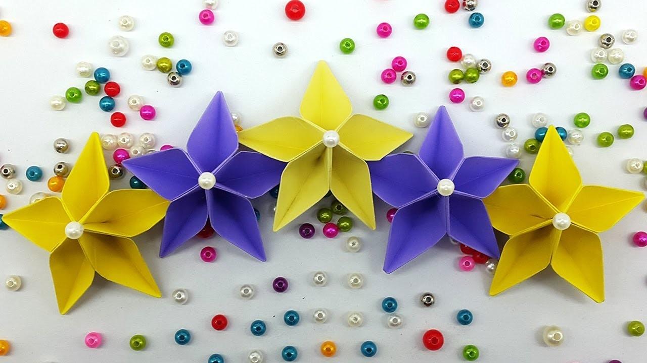 Easy paper flower making tutorial origami flowers diy handmade craft mightylinksfo