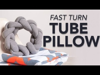 FREE Pattern: Fast Turn Tube Pillow
