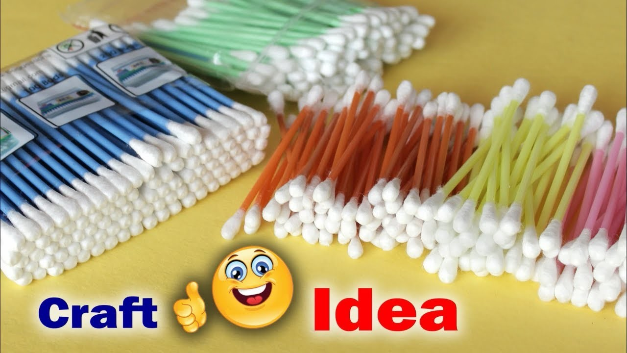 Genius Craft Idea Using Cotton Buds