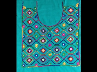 HAND EMBROIDERY: BARFI STITCH AND DESIGN. PART-3