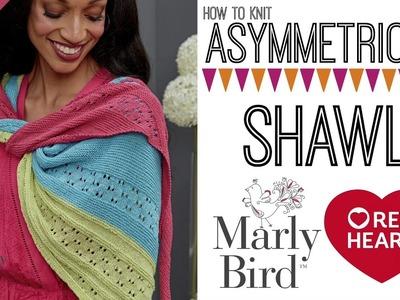 How to Knit Easy Asymmetrical Knit Shawl