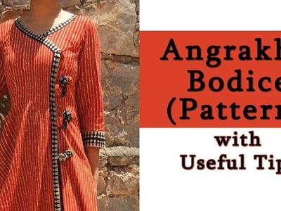 How to Make Angrakha Bodice | Basic Angrakha Bodice Pattern with Useful Tips