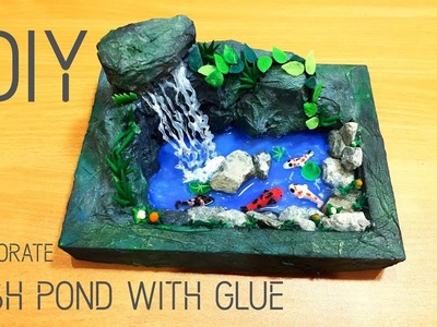 How To Make Fish Pond with Water Fall | DIY | Apna Craft