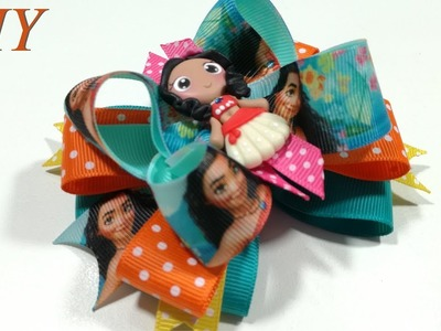 How To Make Hair Bows ???? DIY #204 Disney's Moana Boutique Hair Bow Tutorial