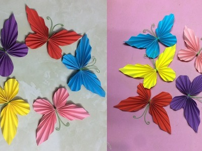 How to Make Paper Butterfly | Making Paper Butterflies | DIY-Paper Crafts
