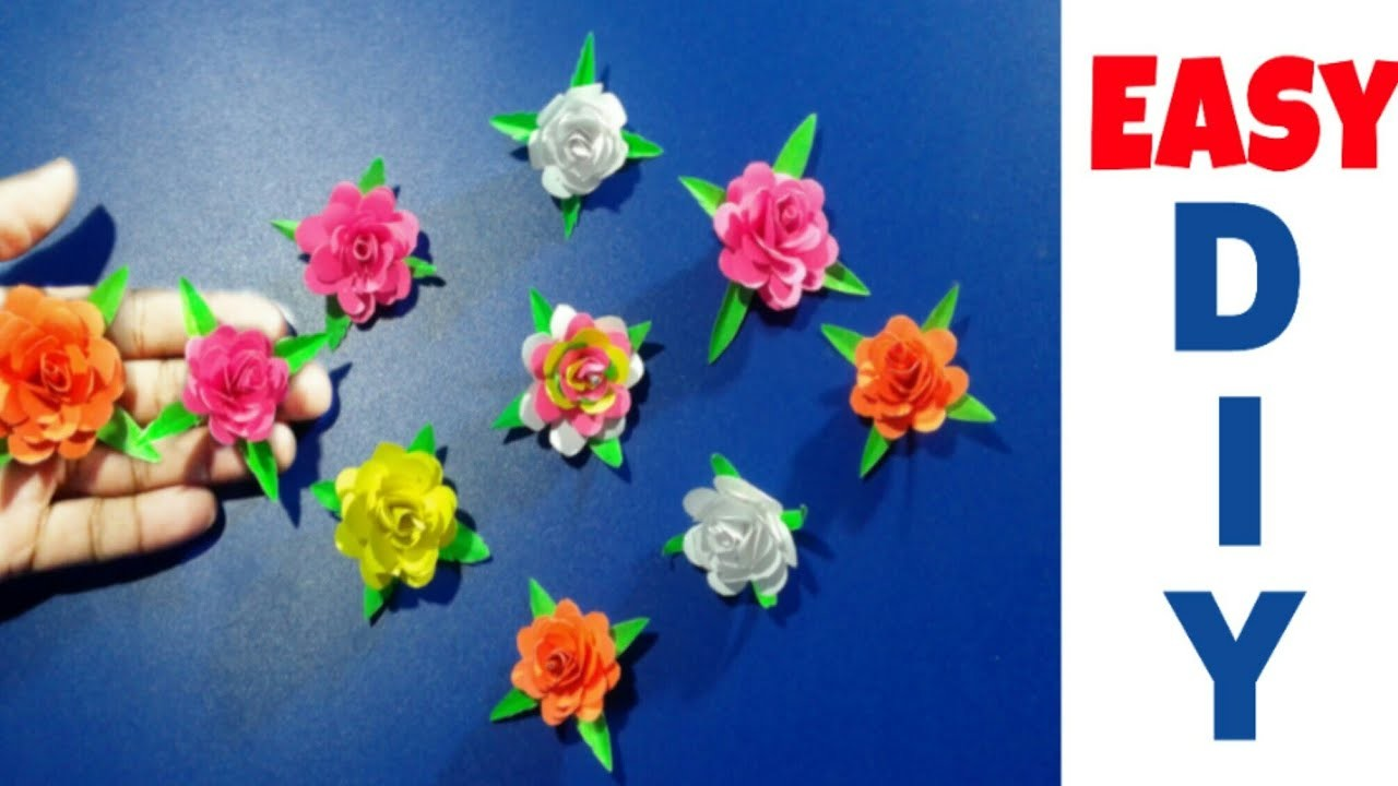 How To Make Small Paper Roses Flower Diy Handmade Craft Paper Craft