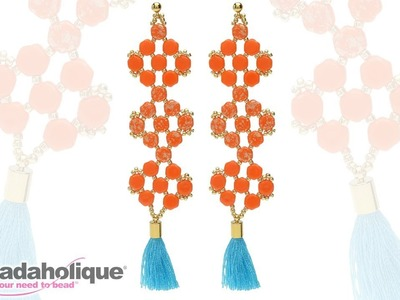 How to Make Statement Earrings with Honeycomb 2 Hole Beads