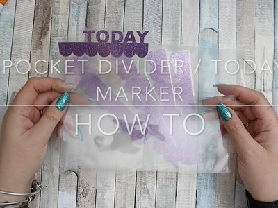 HOW TO |  RINGS DIVIDERS AND TODAY MARKER WITH POCKET FLAP FROM LAMINATE FOR PERSONAL WIDE RINGS