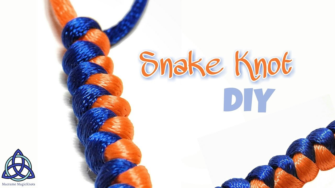 How to Tie Snake Knot Tutorial- EASY Macrame Craft Idea