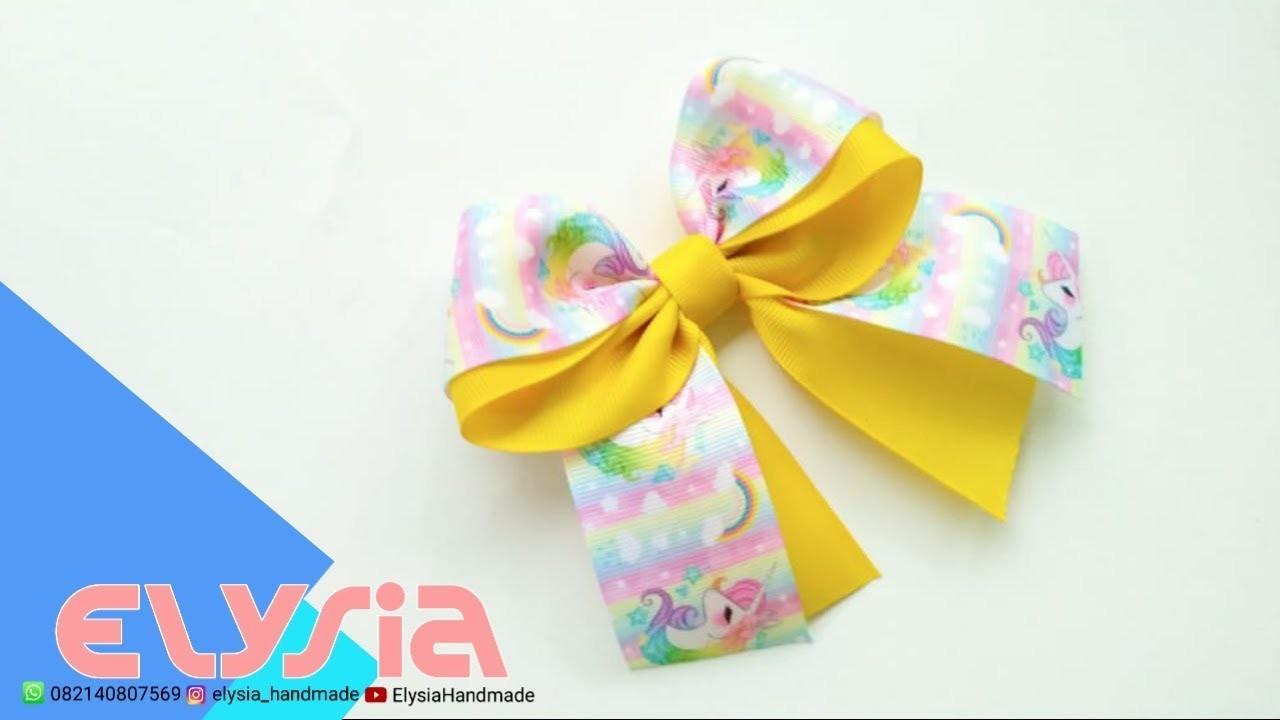 Laço Rainbow ???? Rainbow #Ribbon Bow ???? DIY by Elysia Handmade