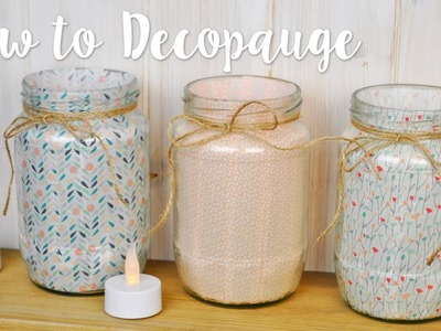 Learn how to decoupage using fabric with Leanne!