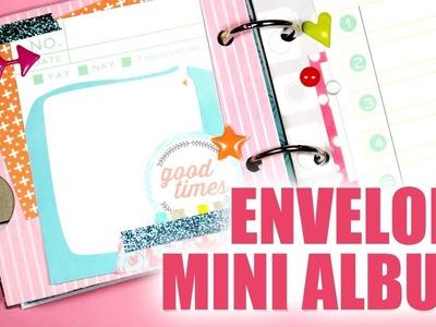 LET'S GET CRAFTY. Upcycled Envelope Mini Album