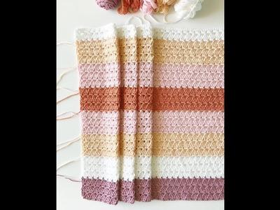 Modern Boho Granny Blanket Tutorial
