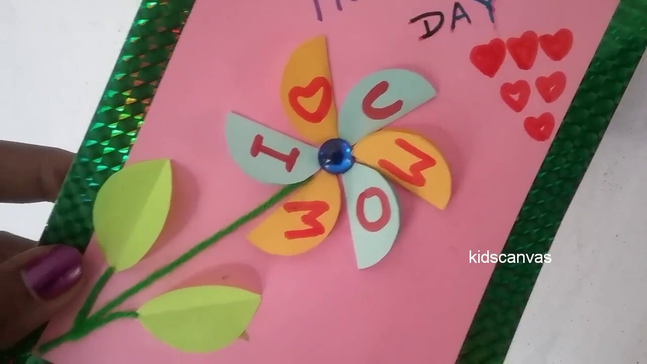 Mothers Day Special Greeting Card 2018paper Craft Ideas For Kids