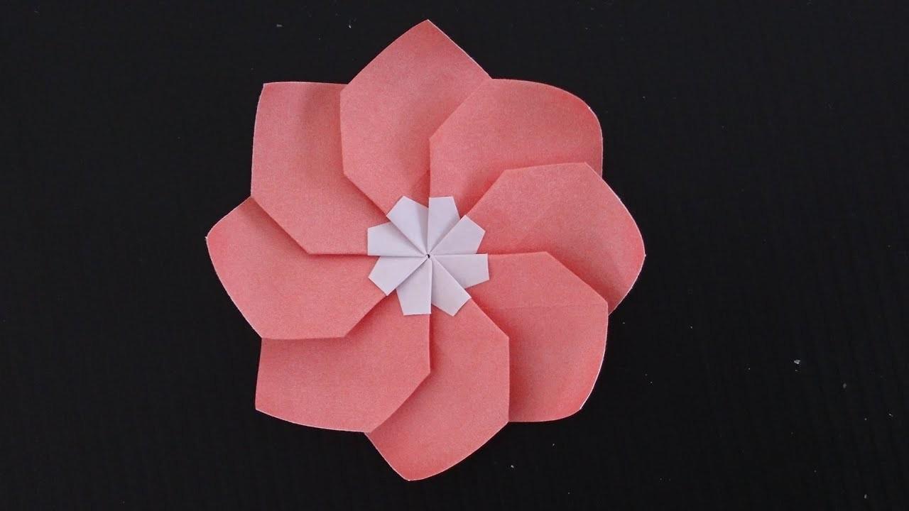 Origami Primrose Flower 8 Petal Flower