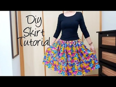 Quick & Easy sewing project | How to sew a lovely skirt ❤❤