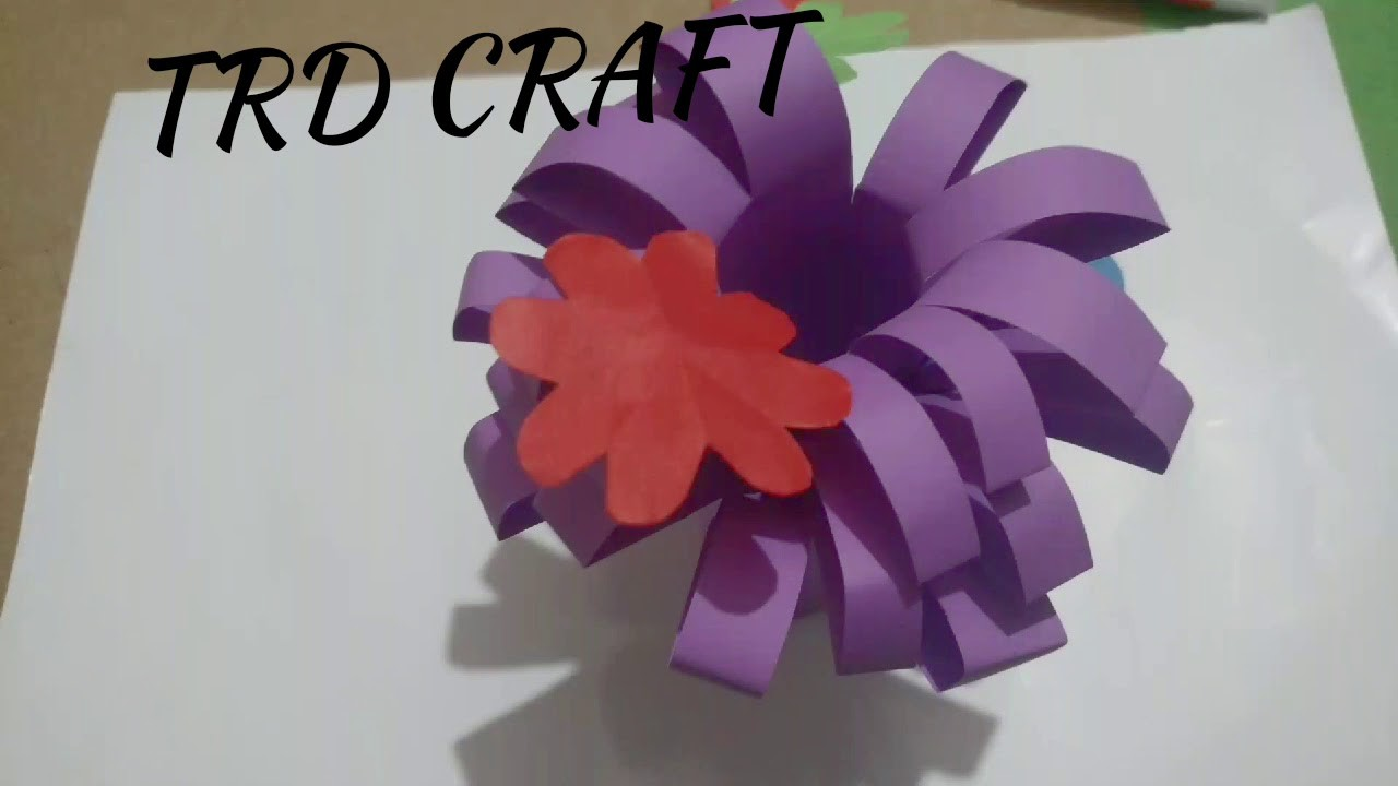 Simple Paper Craft For Kids Easy Paper Flowers