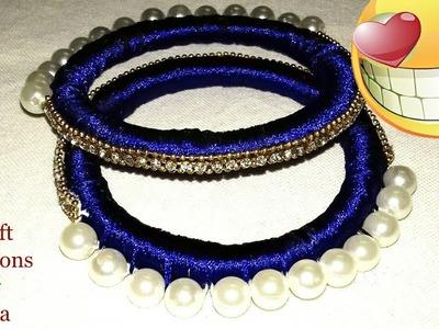 রেশমি সুতার চুড়ি.silk thread Bengals.diy and craft with theads