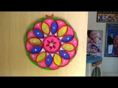 Wall Hanging with old bangles.DIY.Easy craft.reuse of old bangles