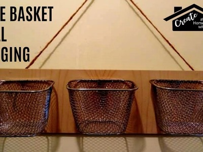 (£1) Poundland Craft: Farmhouse Trio Wire Basket Wall Hanging Storage DIY