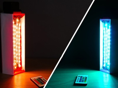 3D PRINTED Colored Ambient Light -  DIY RGB Video Light!