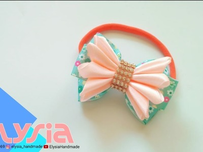 Baby Headband Ideas : Laço Oliev ????Kanzashi #Ribbon Bow ???? DIY by Elysia Handmade