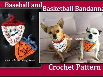 Baseball and Basketball Bandannas Crochet Pattern