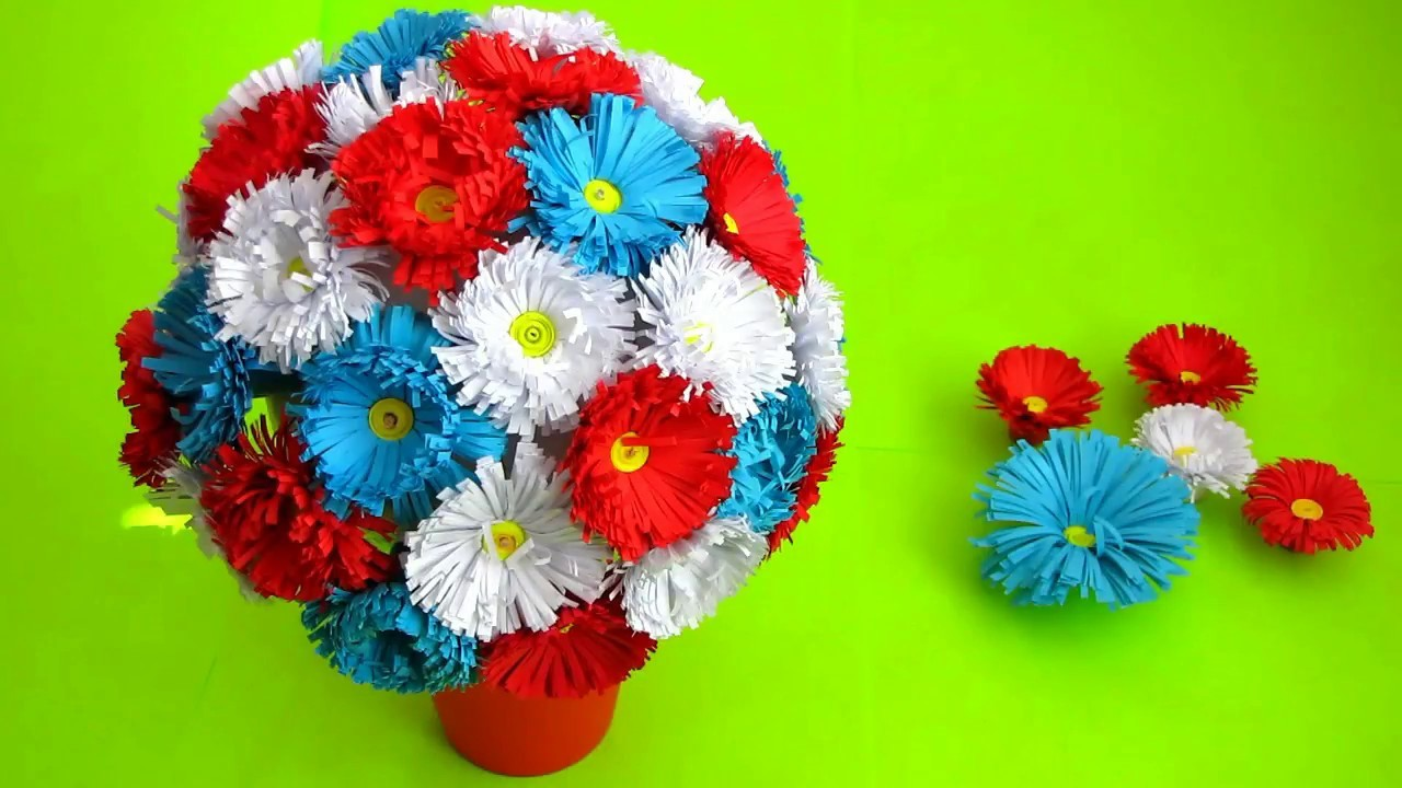 Best Out Of Paper Crafts How To Make Paper Flower Bouquet Very