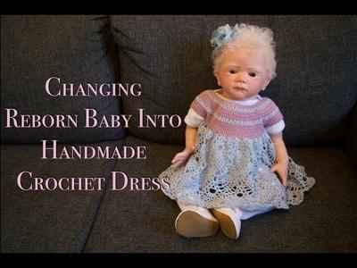 Changing Reborn Baby Girl | Crochet Dress | Haul