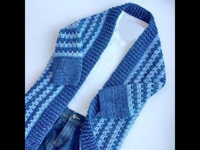Comfy Kimono Blanket Cardigan Crochet Tutorial