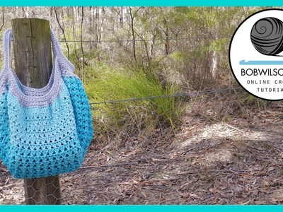 Crochet Cross Stitch Bag Tutorial