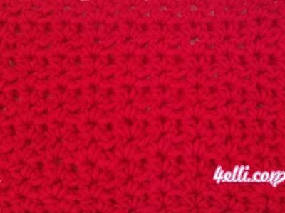 Crochet Half Double Crochet V Stitch Tutorial (EN)