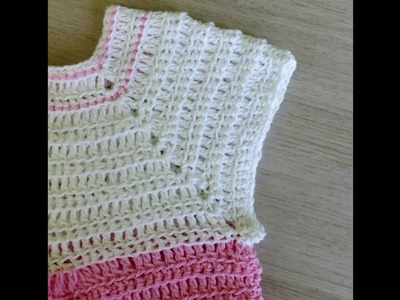 """Crochet pattern dress for baby and girl, crochet pattern summer top for a child """"Cherry Blossom"""""""