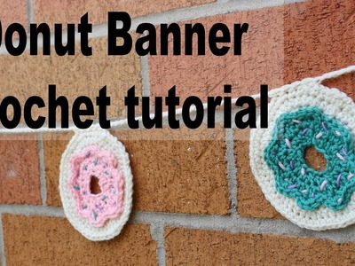 Cute Donut Bunting Crochet Tutorial