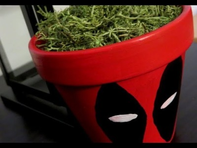 Deadpool 2 | DIY Craft Handpainted Clay Pot for shabby chic Living Room or Garden