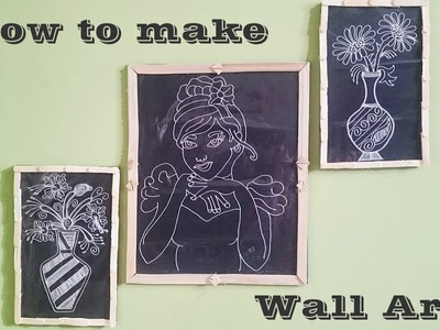 DIY Awesome Wall Art Portrait with Nylon thread and Cotton cloth