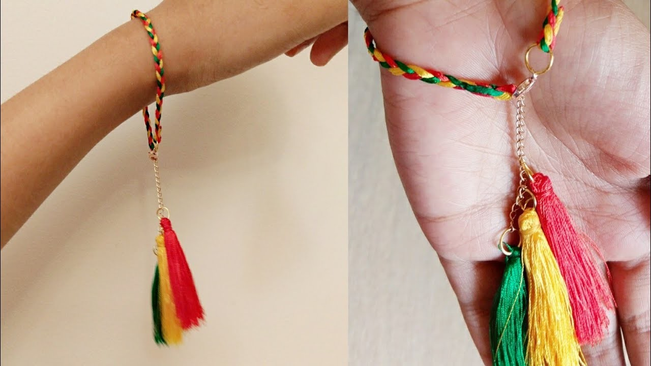 Diy braceletsilk thread bracelet diysimple and easy braceletjewellery making