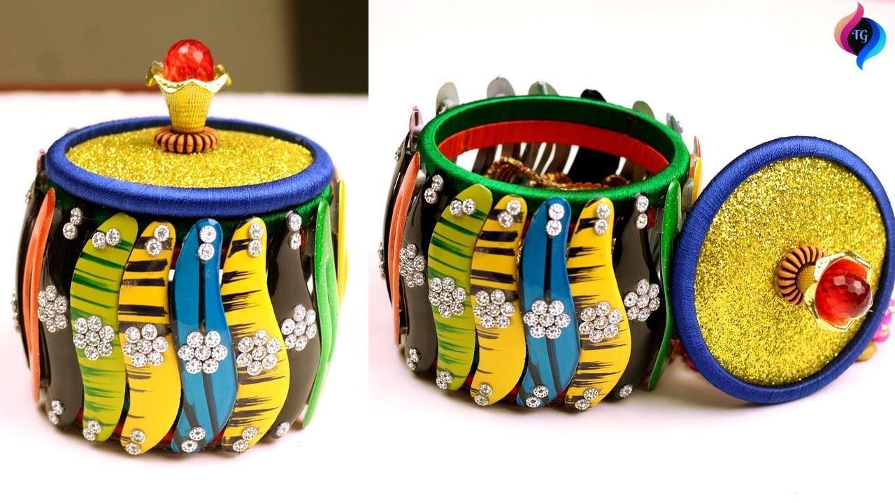 Diy Craft How To Make Jewelry Box Jewellery Box Making At Home