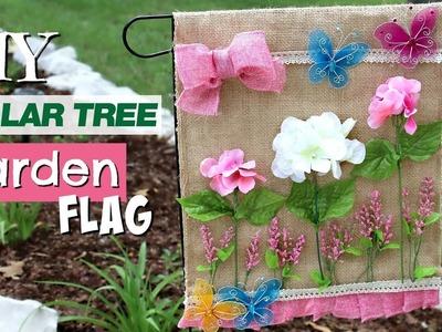 ???? DIY Dollar Tree Garden Flag | Cute DIY Outdoor Decor