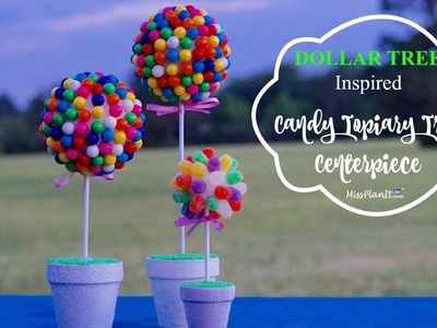 DIY Dollar Tree Inspired Candy Topiary Tree| DIY Party Budget  Decorations| DIY Tutorial