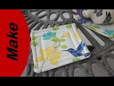 DIY gift idea fabric coasters
