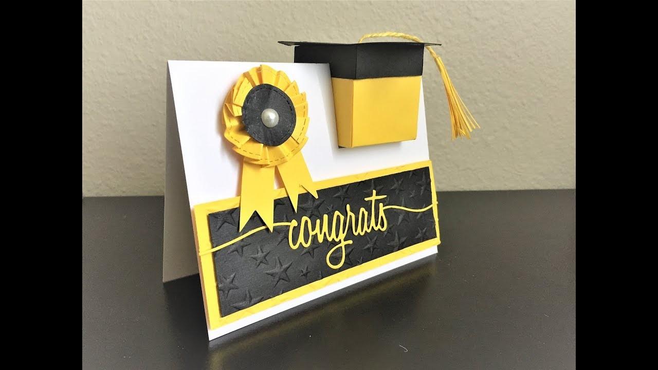 Diy Graduation Card Box In A Card Congrats Card Handmade
