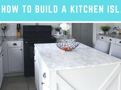 DIY How to Build A Kitchen Island | Easy Island with Seating & Storage!